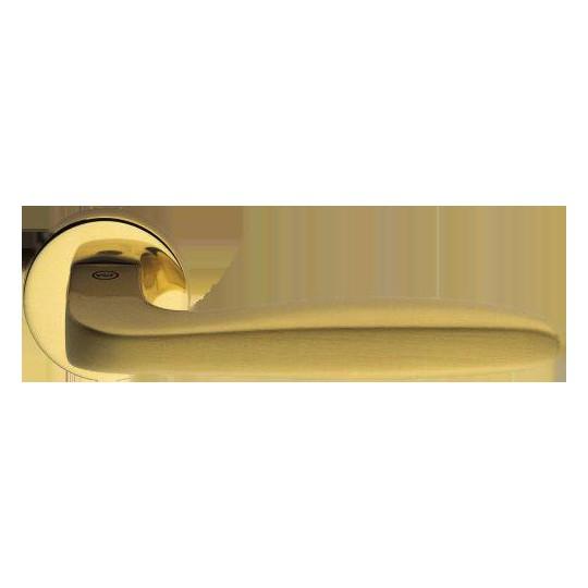 Klamka Ernani szyld okrągły kolor złoty/złoty-satyna