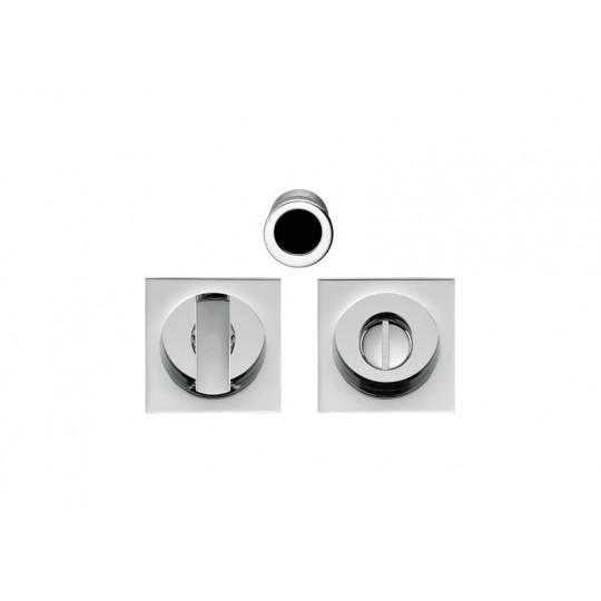 Zamek hakowy  ID311 LK do drzwi przesuwnych z kompletem uchwytów kwadratowych WC