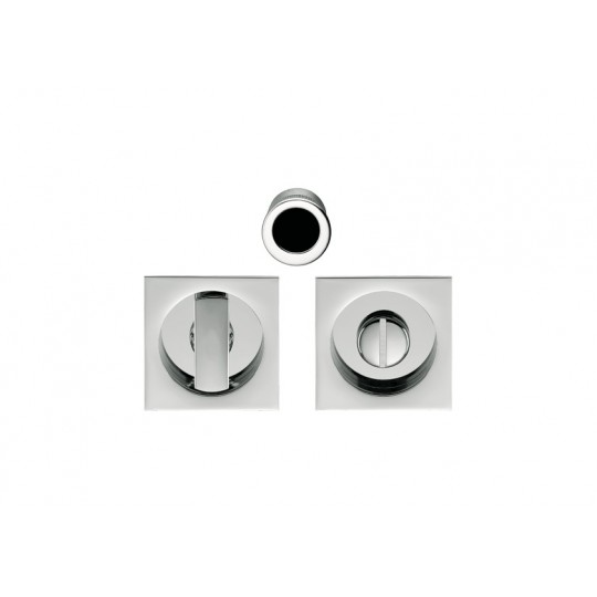 Zamek hakowy Open SQ ID311 LK do drzwi przesuwnych z kompletem uchwytów kwadratowych WC