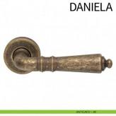 Klamka DANIELA DND szyld okrągły kolor AF antyczny