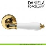 Klamka DANIELA DND szyld okrągły kolor OLV złoty P1