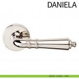 Klamka DANIELA DND szyld okrągły kolor ONV nikiel