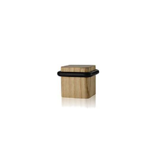 Odbój drzwiowy kwadratowy drewniany Minimal jesion