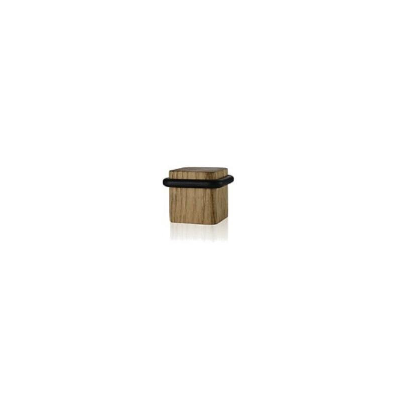 Odbój drzwiowy kwadratowy drewniany Minimal dąb