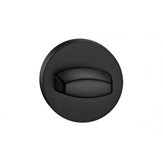 Rozeta WC czarna do klamek okrągły szyld