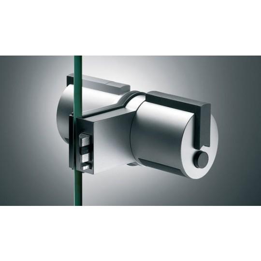 Gałka FORMA F12 z przyciskiem (łazienka) z zamkiem do drzwi szklanych ZESTAW