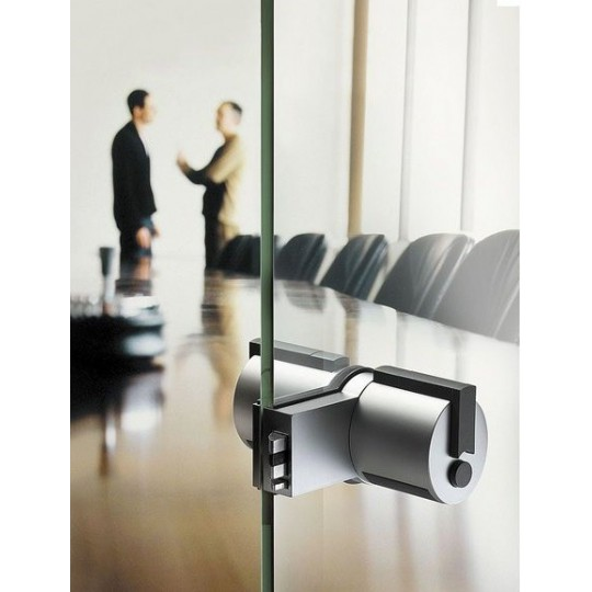 Gałka FORMA F13 klucz+przycisk (biuro) z zamkiem do drzwi szklanych ZESTAW