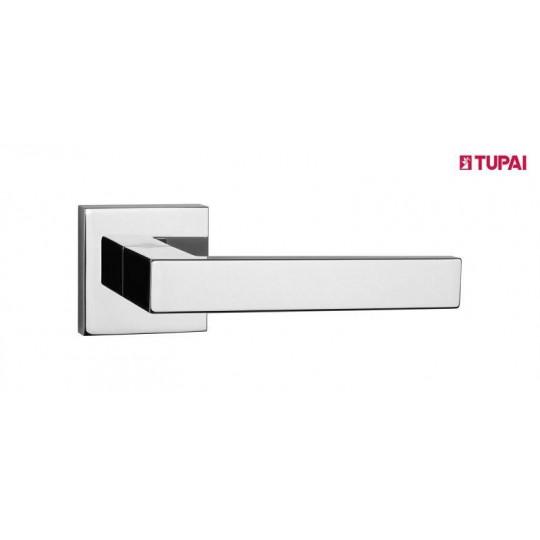 Klamka Tupai 2275Q 03 szyld kwadratowy chrom błyszczący