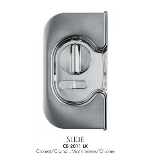 Uchwyt wpuszczany do drzwi przesuwnych z blokadą WC Slide CB2011 LK