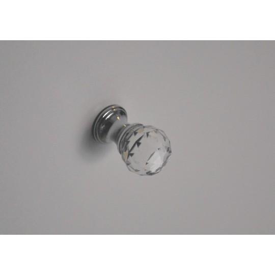Gałka z kryształem 30mm