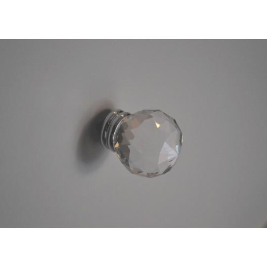 Gałka podwójna z kryształem 40mm
