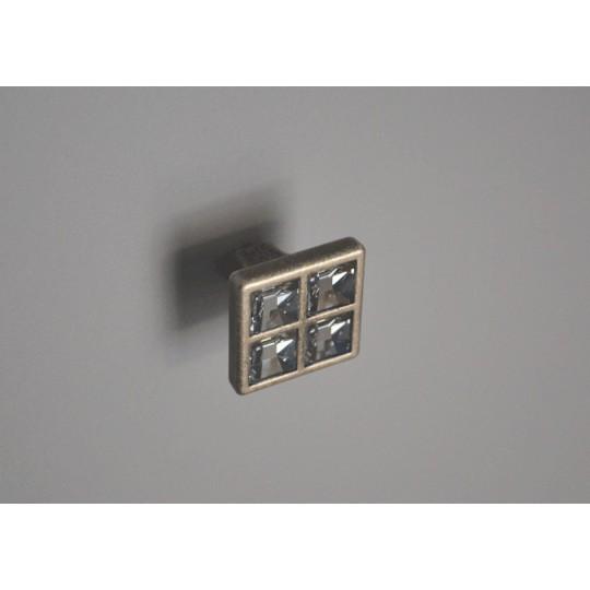 Gałka z kryształem MG6400 stare srebro