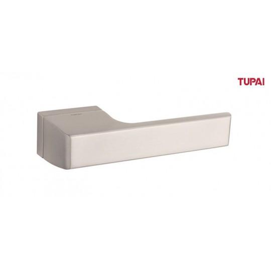 Klamka Tupai 3099RT/142 szyld prostokątny nikiel szczotkowany