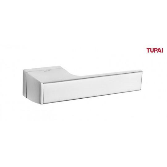 Klamka Tupai 3099RT/96 szyld prostokątny chrom szczotkowany