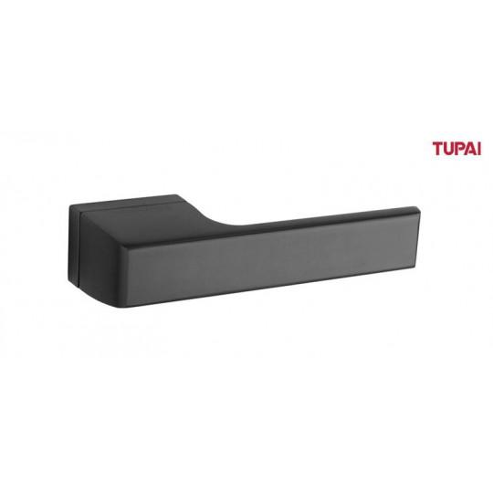 Klamka Tupai 3099RT/153 szyld prostokątny czarny