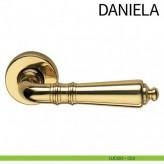 Klamka DANIELA DND szyld okrągły kolor OLV złoty