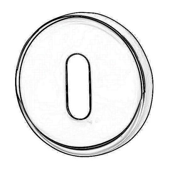Rozeta okrągła R37V chrom satyna klucz