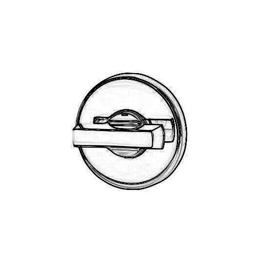 Rozeta okrągła Luce R37V chrom-satyna WC