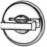 Rozeta okrągła R37V chrom satyna wc