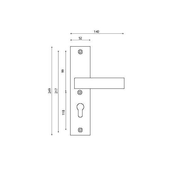Klamka 807 Astra do drzwi zewnętrznych Inox chrom