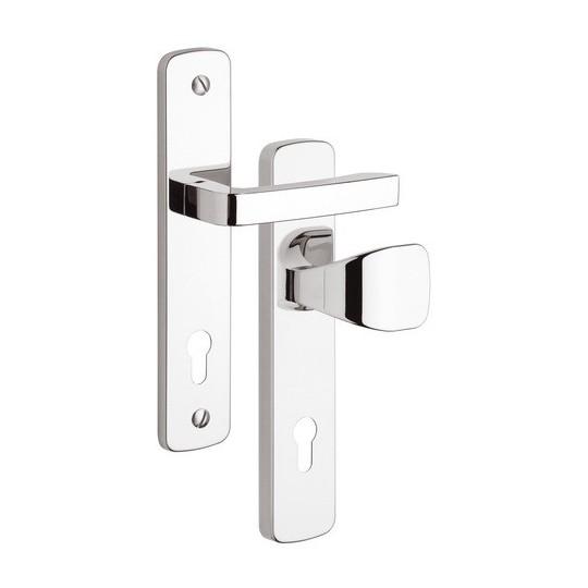 Gałko - klamka Astra 802 na wkładkę do drzwi zewnętrznych Inox chrom