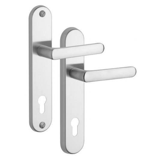 Klamka Exclusive 807/0 na wkładkę do drzwi zewnętrznych Inox mat