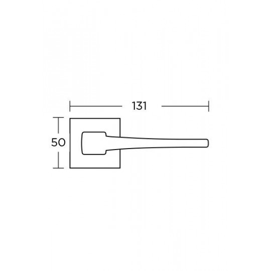 Klamka Convex 1495 nikiel-satyna