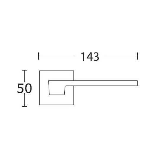 Klamka Convex 1535 czarny matowy