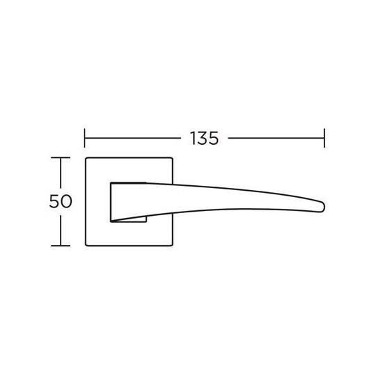 Klamka Convex 775 mosiądz antyczny
