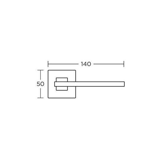 Klamka Convex 745 nikiel satyna/ chrom