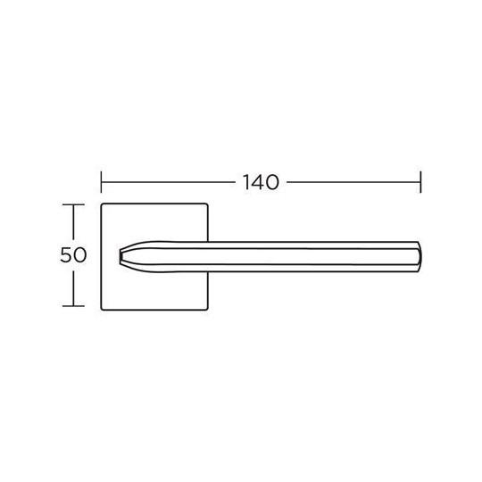 Klamka Convex 1085 nikiel satyna