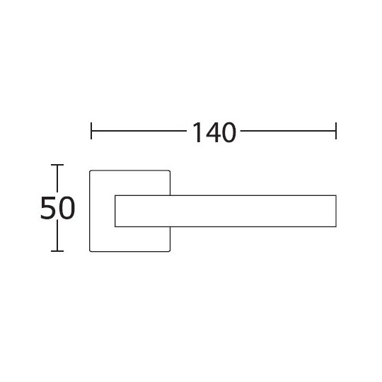 Klamka Convex 1115 nikiel satyna