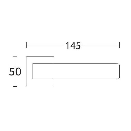 Klamka Convex 1555 czarny matowy