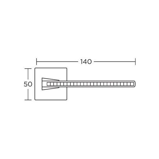 Klamka Convex 1125 nikiel satyna