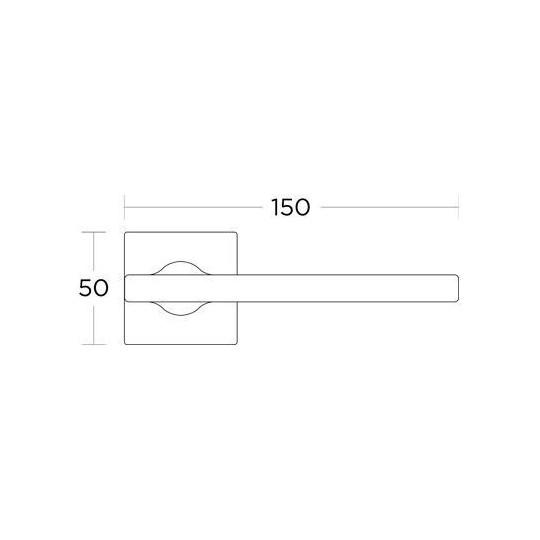Klamka Convex 2165 czarny matowy
