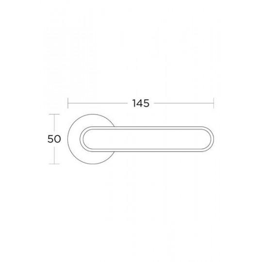 Klamka Convex 2195  miedź/biały