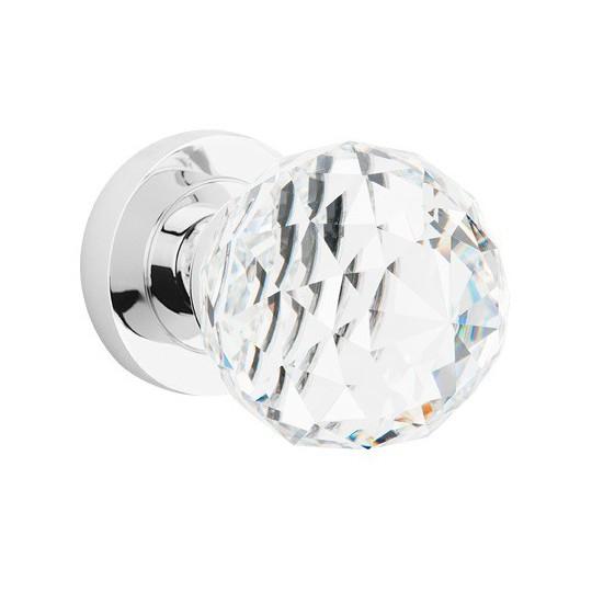 Gałka drzwiowa Crystal ruchoma przeźroczysta