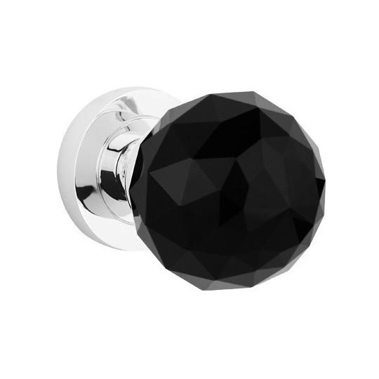 Gałka drzwiowa Crystal ruchoma czarna