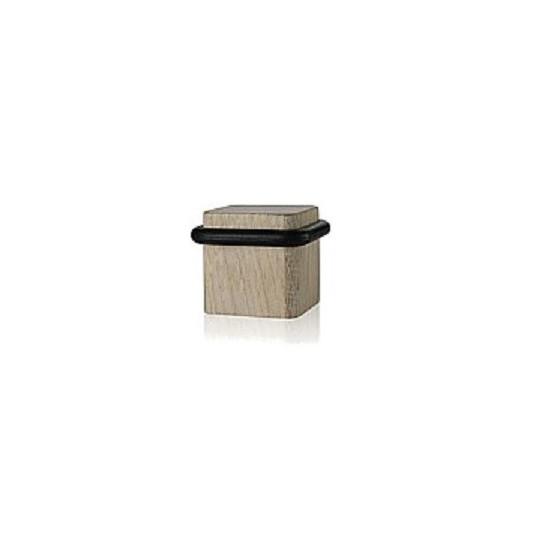 Odbój drzwiowy kwadratowy drewniany Minimal dąb bielony