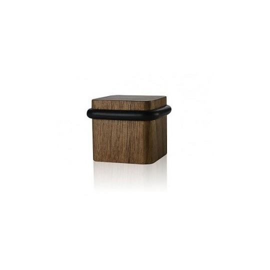 Odbój drzwiowy kwadratowy drewniany Minimal orzech