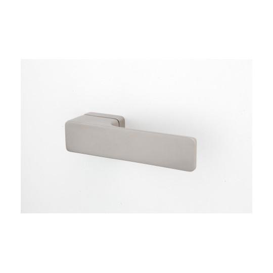 Klamka Minimal M&T szyld prostokątny SNi-szlif  nikiel mat szlifowany