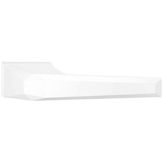 Klamka Prisma z szyldem ukrytym, biała