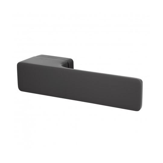 Klamka Minimal M&T szyld prostokątny TiN-K tytan czarny mat