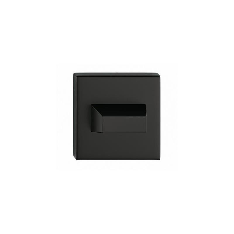 Rozeta WC czarna do klamek kwadratowych