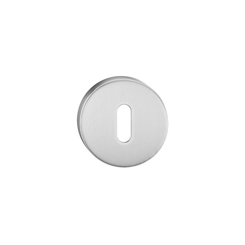 Szyld okrągły na klucz chrom szczotkowany