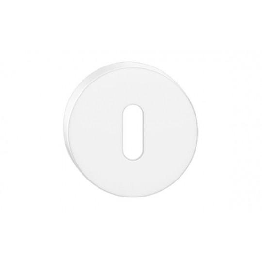 Szyld okrągły na klucz biały