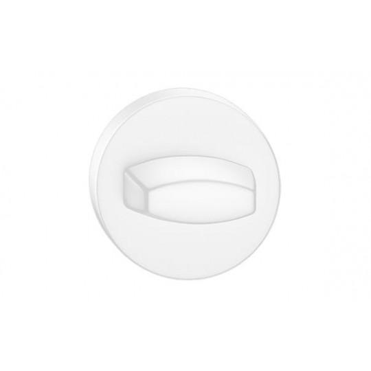 Rozeta WC biała do klamek okrągły szyld