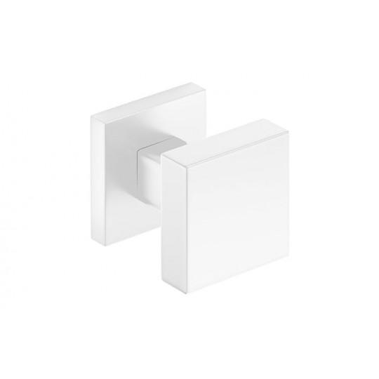 Gałka Aegis z kwadratowym szyldem biała