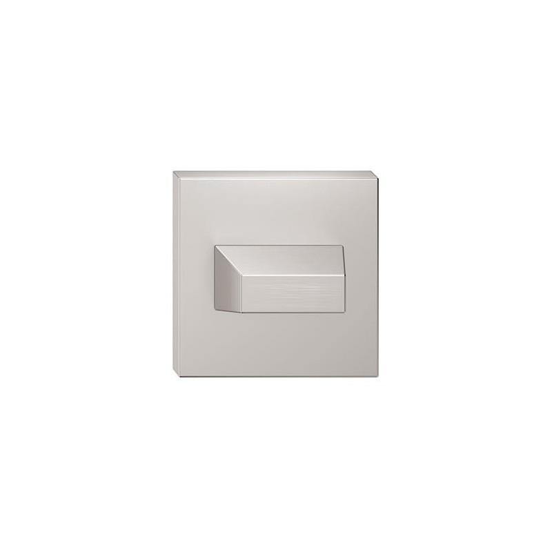 Rozeta WC nikiel szczotkowany matt do klamek kwadratowych
