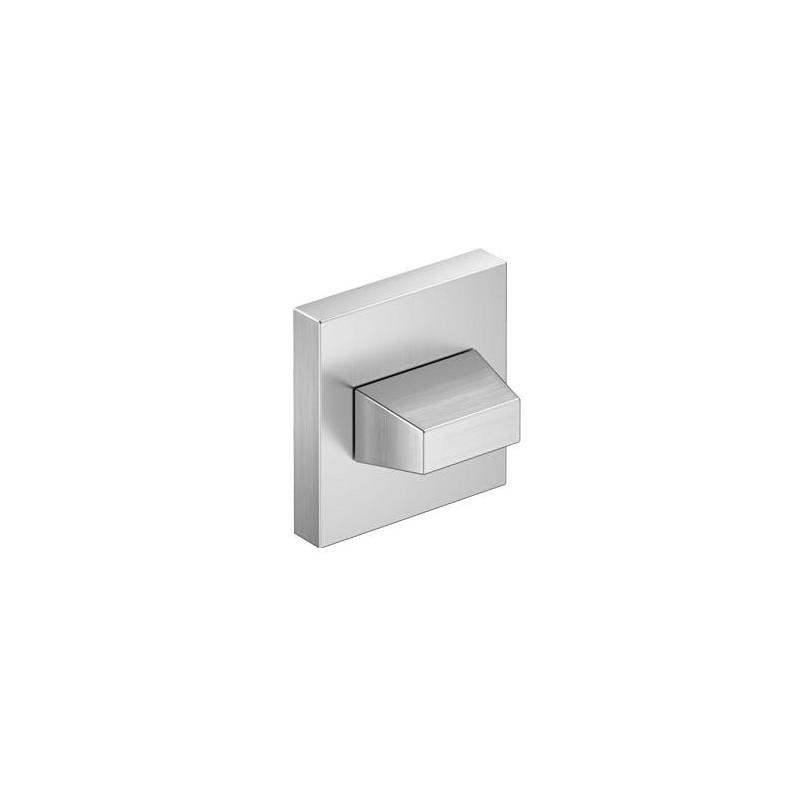 Rozeta WC chrom szczotkowany matt do klamek kwadratowych